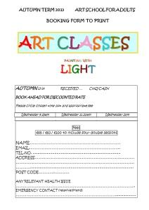 class 201314 light BOOKING FORM
